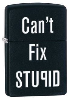 Zippo Can't Fix Stupid Pocket Lighter, Black Matte *** You can find more details by visiting the image link.
