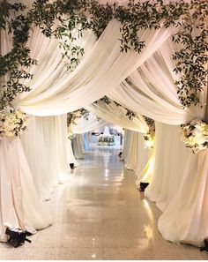 luxury wedding entrance The wedding reception entrance is something that all anxiously await. It's up to you to make your wedding reception entrance special. Wedding Reception Entrance, Wedding Stage Decorations, Wedding Ceremony, Wedding Venues, Wedding Draping, Decor Wedding, Indian Reception, Engagement Decorations, Backdrop Decorations