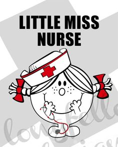 Little Miss Nurse  8 x 10 Modern Wall Art by Longfellowdesigns, $18.00