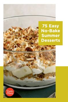 Too hot to turn on the oven? No problem! These easy summer desserts are ready in a flash and don't even need to be baked! So keep cool and reward yourself with these no-bake recipes. No Bake Summer Desserts, Baking Recipes, Dessert Recipes, Keep Cool, Oven, Breakfast, Hot, Cooking Recipes, Morning Coffee