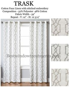 Trask Heavy Linen Style Curtains New Bestwindowtreatments Blackout Curtainslinen Curtains108 Inch