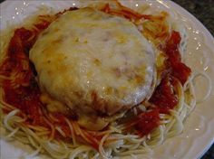 Quick and Easy Chicken Parmesan from Food.com: Kid friendly, no fuss dinner using breaded chicken patties. Not a 5 star restaurant recipe, but quick and easy! Serve over spaghetti.