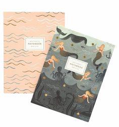 Rifle Paper Co - Mermaid Notebooks (set of 2) - Vinnie Louise