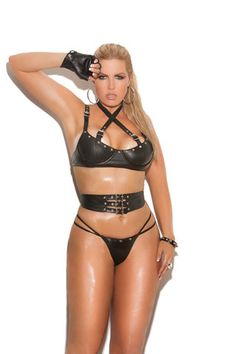 550e843086 Plus Size Leather 3 Pc Set – Lace Your Curves Leather Corset