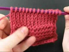 Tunisian Knit Stitch...crochet that looks like knitting!!!  These directions are MUCH clearer than others I've seen.