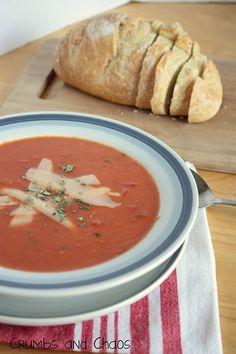 Tomato Basil Soup - Crumbs and Chaos