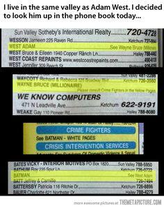 This is totally in an Idaho phone book haha - Sneaky Batman…