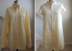 thanks to clevergirl.org I only want to wear refashioned men's shirts. to-do: improve sewing skills.