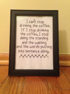 Lorelai cant stop drinking the coffee and neither can you! If you are a Lorelai Gilmore (and coffee) fan, then this piece is for you! Designed and
