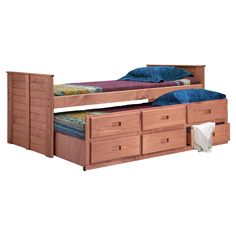 Chelsea Home Twin Captain Bed With Trundle - Mahogany