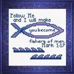 Fishers of Men Mark Cross Stitch Design Cross Stitch Cards, Cross Stitching, Cross Stitch Embroidery, Embroidery Patterns, Knitting Patterns, Cross Stitch Designs, Cross Stitch Patterns, Our Father In Heaven, Perler Bead Templates
