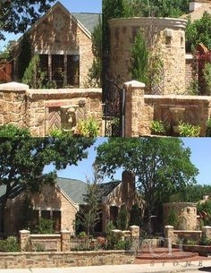 Cre8 Stone Home - this was a brick home that was sprayed with limestone finish n troweled!  Amazing work~~~  They do inside or out!