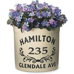 Personalized Crock with Scroll Design Outdoor Planters, Flower Planters, Flower Pots, Planter Pots, Outdoor Decor, Outdoor Spaces, Outdoor Living, Flowers, Lawn And Garden