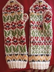 Ravelry: Poppies Mittens pattern by Natalia Moreva