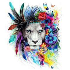 Beautiful lion art.