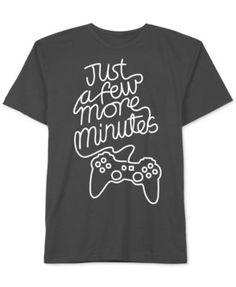 Jem Boys Graphic-Print Just a Few More Minutes Gamer T-Shirt (Black Medium) the Season - Graphic Shirts - Ideas of Graphic Shirts - Vinyl Shirts, Boys Shirts, Custom Shirts, Junior Shirts, Funny Shirts, Gamer T-shirt, Diy Shirt, T Shirts With Sayings, Printed Shirts