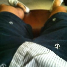 Anchor embroidered shorts.  So nautical. So classy.