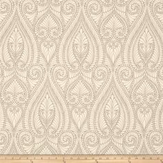 Iman Isen Damask Jacquard Smoke from @fabricdotcom  Refresh and modernize any home decor with this heavyweight jacquard fabric, perfect for revitalizing an old piece of furniture and updating it with a new look, create accent pillows, upholster furniture, headboards, poufs and ottomans. Colors include ivory and light grey.