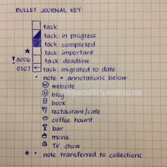 Bullet Journal Rehashed | Decade Thirty → New bullet journal mods on follow-up blog post here: http://interpunctedthirty.wordpress.com/2014/07/04/bullet-journal-rehashed/  #bulletjournal