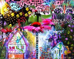 couleurs et mixed media: Mon Art-Journal 2015 - J'ouvre les yeux - semaine 2
