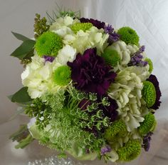 Image detail for -Lime Green and Purple Flowers | Colorado Springs Wedding Flowers