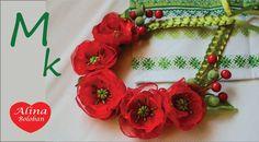 Ожерелье с Маками . Совместный МК с Анной Оськиной