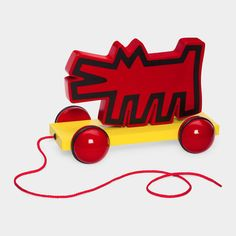 Wolf Pull toy by Keith Haring  MoMA STORE