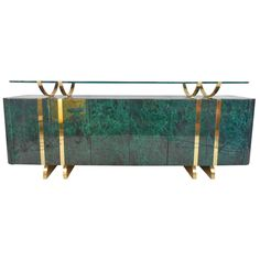 Exquisite Mid-Century Modern Floating Top Buffet Server | From a unique collection of antique and modern buffets at https://www.1stdibs.com/furniture/storage-case-pieces/buffets/