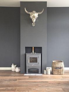 Een mooie studeerkamer in de Flexa Creations kleur Industrial Grey. Wil je weten wat deze kleur met jouw muur doet? Probeer dan de Flexa Kleurtester.