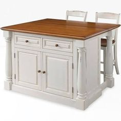 kitchen island table with seating - Google Search