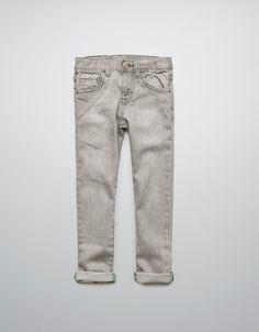 GREY SKINNY JEANS - Jeans - Boy (2-14 years) - Kids - ZARA United States