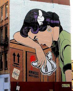 D*Face in Williamsburg New York Graffiti, Best Graffiti, Graffiti Murals, Street Art Graffiti, Graffiti Lettering, Graffiti Artists, Street Wall Art, Urban Street Art, Urban Art