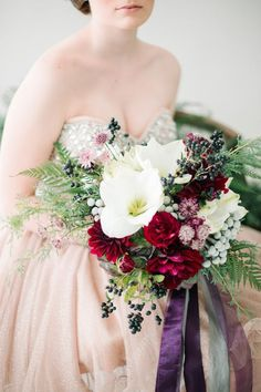 Whimsical bridal bouquet | Carrie King Photography | see more on: http://burnettsboards.com/2014/12/whimsical-elegant-bridal-inspiration/