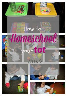 How to Homeschool your Tot - Week 5