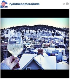 Champagne and Sundance = a perfect combination!