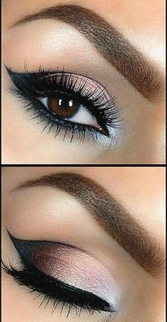 Beautiful eye makeup look.