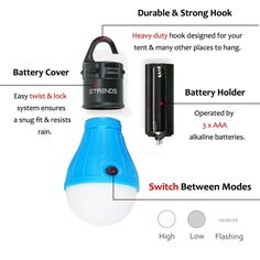 9.95 + FREE Shipping - 2 Pack E-TRENDS Portable LED Lantern Tent Light Bulb for Camping Hiking Fishing Emergency Light, Battery Powered Camping Equipment Gear Gadgets Lamp for Outdoor & Indoor, Red : Sports & Outdoors - http://amzn.to/2taBiAV