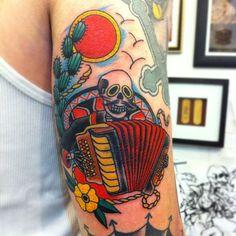 mexican accordion tattoo - Google Search