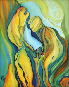 "Saatchi Online Artist Alexander Semushin; Painting, ""PLEASURE LIGHT"" #art"