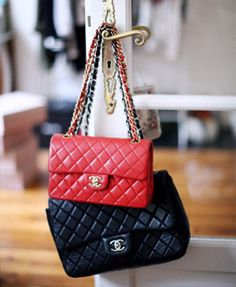 chanel - red and black