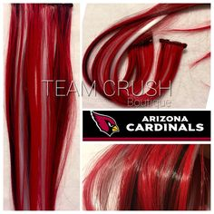 A personal favorite from my Etsy shop https://www.etsy.com/listing/263708828/arizona-cardinals-18-clip-in-colored