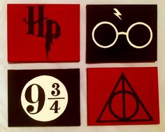 Harry Potter hand painted canvas'