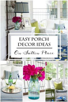 For a few months out of the year, if you have one, a back porch becomes a new place to hang out. But, to make the most of the space it needs to function like an indoor room. There are a few simple things anyone can do to create a great outdoor living area. Follow along as eBay shares some easy, DIY, budget-friendly ideas to turn your outdoor porch into the best room of your house!