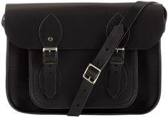 "The Cambridge Satchel Company The Classic 11"" Leather Satchel Bag , Black"