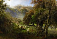 Alban Hills, Oswald Achenbach.
