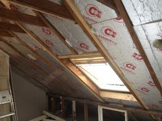 Insulated loft conversion with velux window
