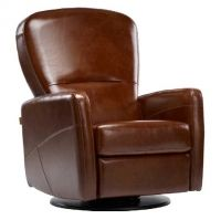 Tuscany Dutailier Swivel Glider Recliner Model 453 with Footrest. Comes in grey. $1300