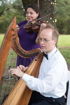 Angelic Strings performing at a small wedding at Kindred Oaks // Kelly Cameron Photography