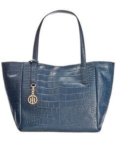 Tommy Hilfiger Claire Croco Leather Small Tote