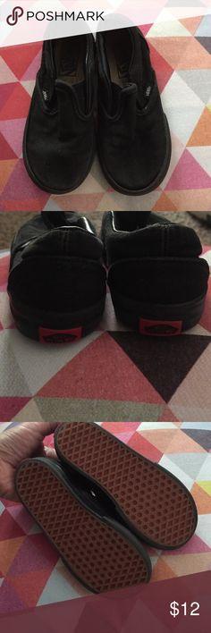 Little vans Kids used black slip on Vans. Vans Shoes Sneakers